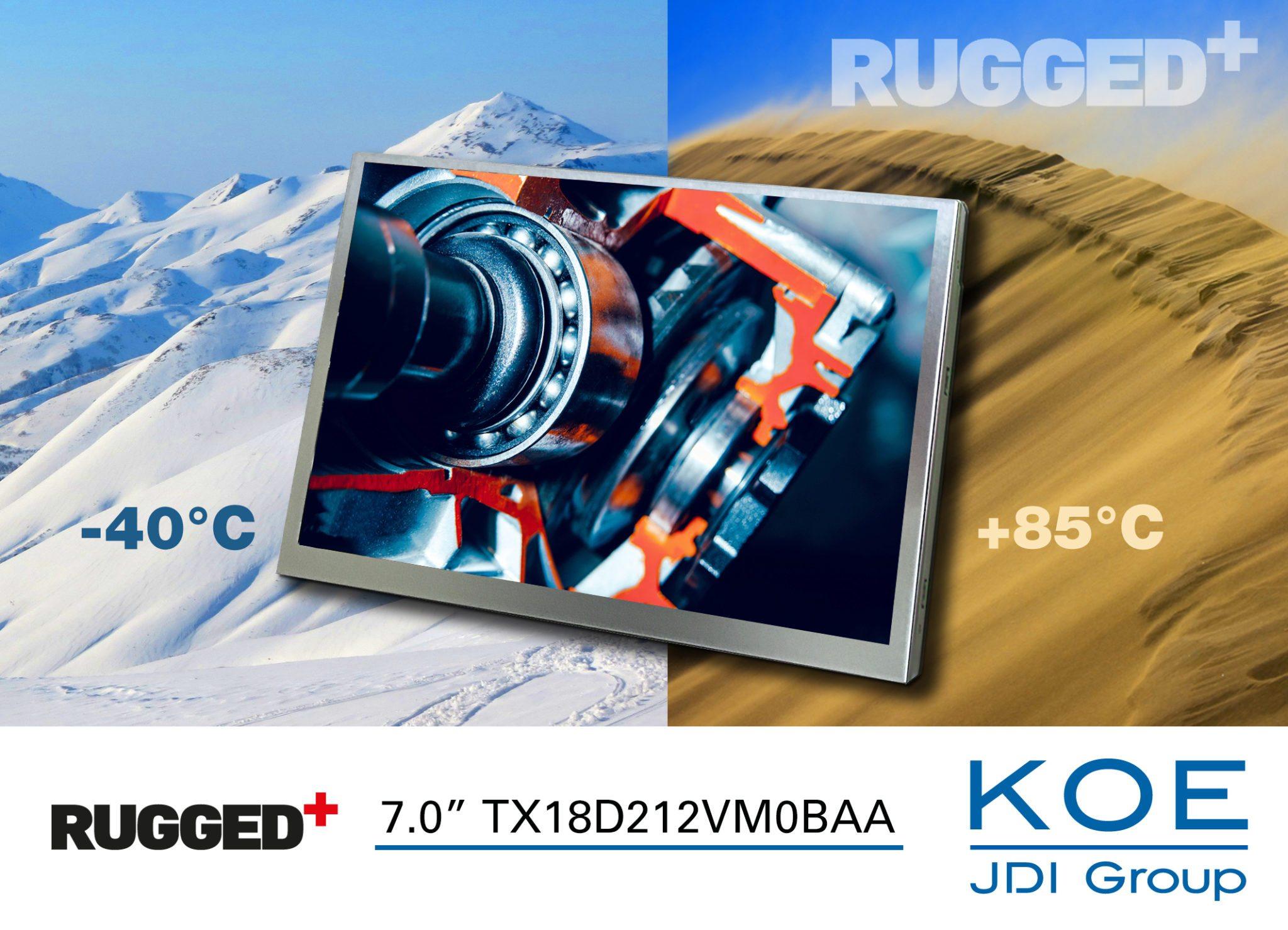 KOE 7.0-inch WXGA Rugged+ TX18D212VM0BAA TFT