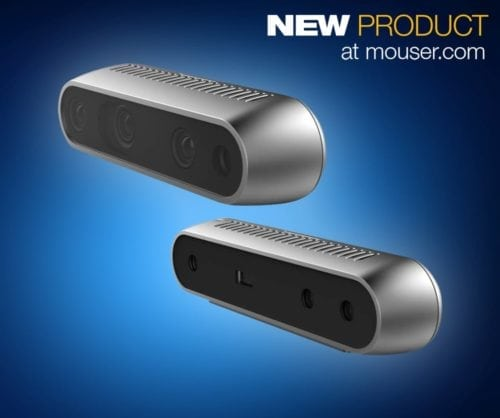 Mouser Offers Intel RealSense D400 Series Depth-Sensing Cameras