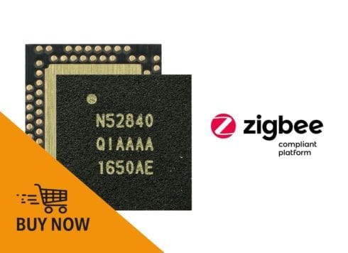 nRF52840 SoC and supporting dev kit certified as a Zigbee Compliant