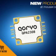 Mouser Now Stocking the Qorvo QPA2308 60W GaN Power Amplifier for Commercial and Military Applications